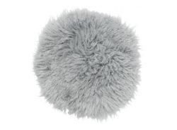 Frizzy stolsdyna rund light grey
