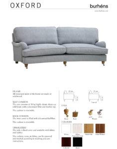 Oxford produktblad Östbergs Säng & Möbelhus