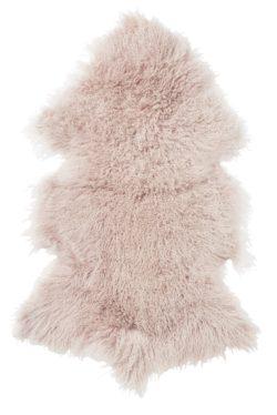 Shansi lammskinn Dusty Pink