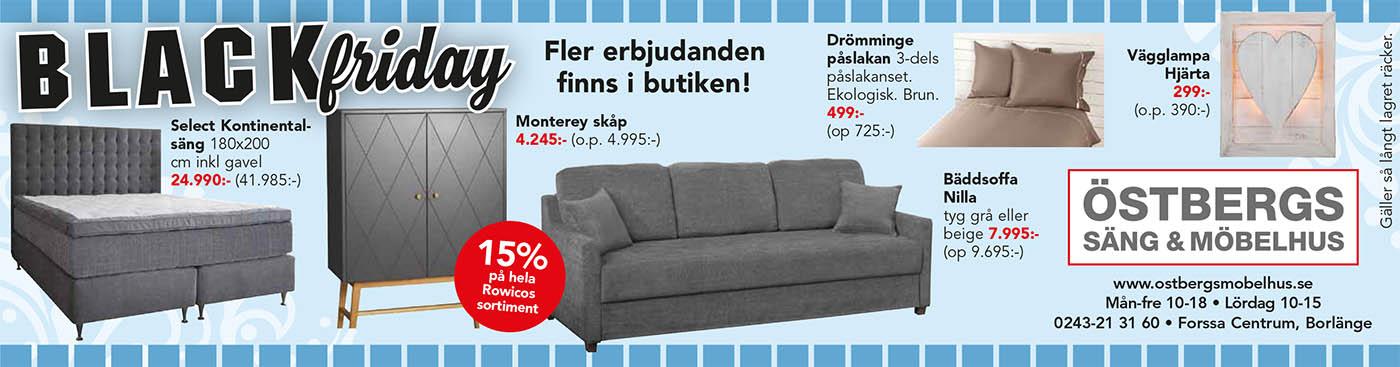 Black Friday Östbergs Säng  & Möbelhus, Borlänge