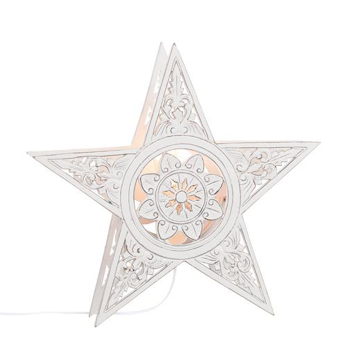 Lampa stjärna trä 40cm