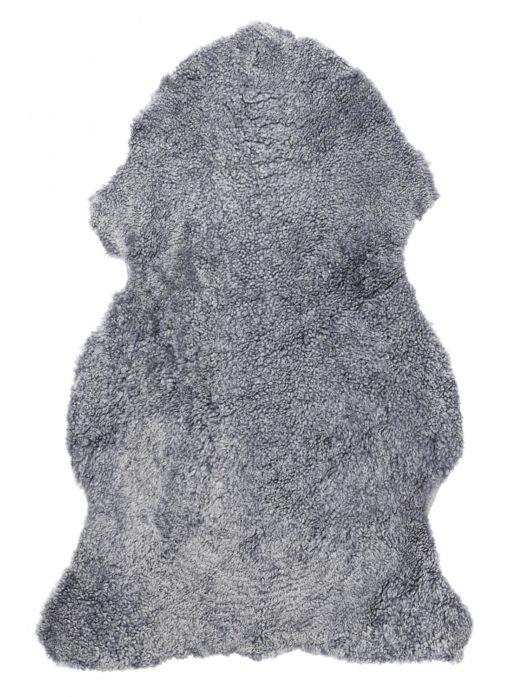 Curly Pläd Fårskinn grå