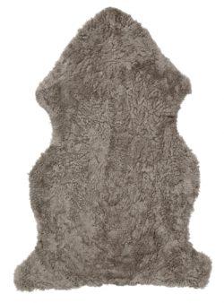 Curly Pläd Fårskinn ljusbrun
