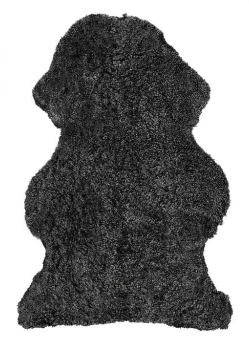 Curly Pläd Fårskinn mörkbrå
