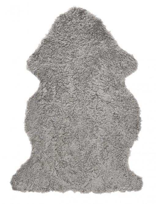 Curly Pläd Fårskinn naturgrå