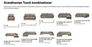 Scandinavian Touch 3-sits soffa, kombinationer