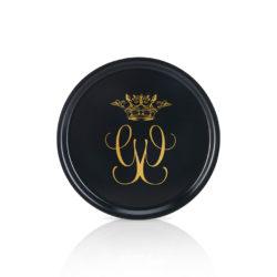 Rund bricka 31cm Royal svart/guld