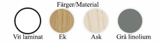 Works Skrivbord/Rullhurts Färger - MaterialMaterial