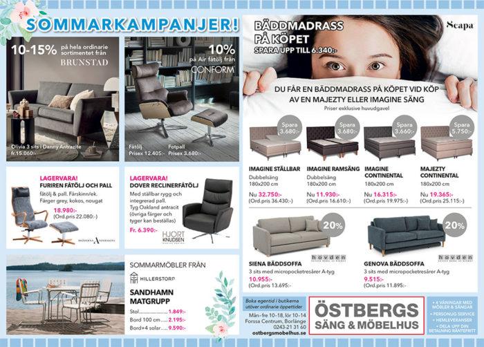 Sommarkampanj Östbergs Säng & Möbelhus