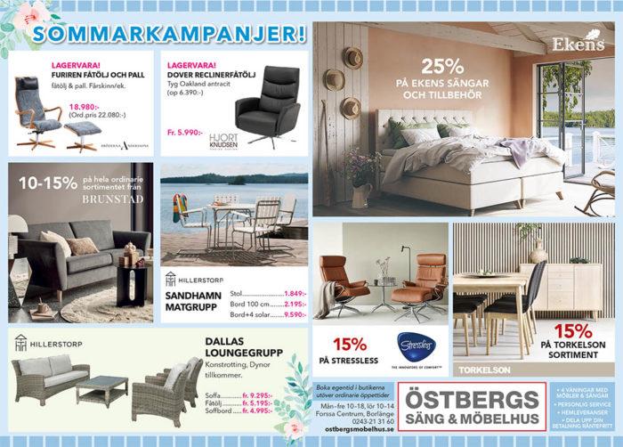 Sommarkampanj hos Östbergs Säng & Möbelhus i Borlänge