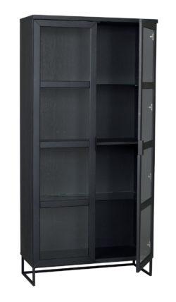 Everett Vitrinskåp 195cm högt svart